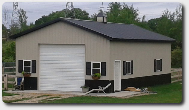 pole barn garage 24x36x12