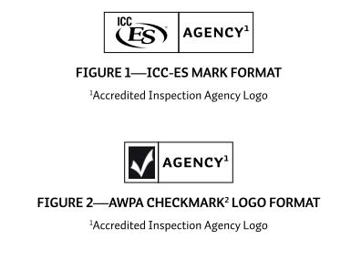 treated wood mark symbols AWPA ICC-ES