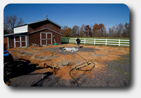 site location preparation for horse barn