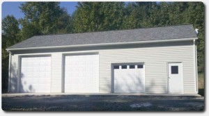 custom garage 24x48x12 vinyl siding shingle roof