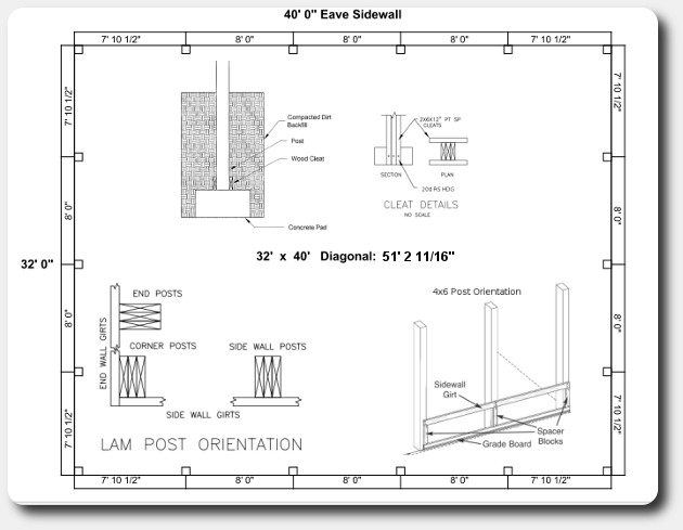 Nyela shed plans 16x24 free Pole barn design plans