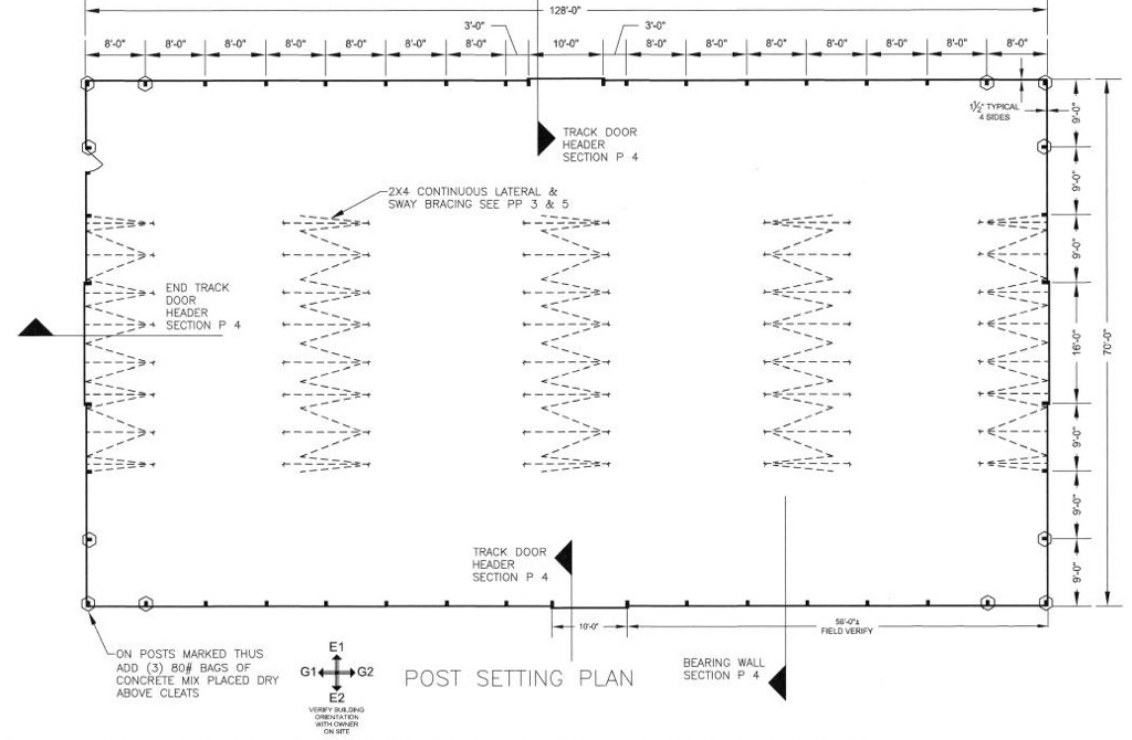riding arena post plan