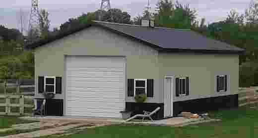 Illinois pole barn garage