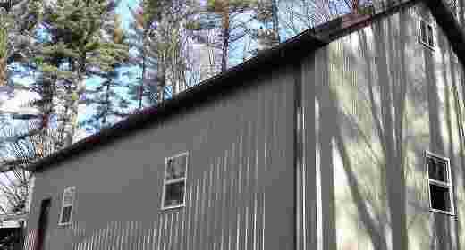 Michigan pole barn workshop with attic